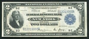 "FR. 752 1918 $2 ""BATTLESHIP"" FRBN FEDERAL RESERVE BANK NOTE NEW YORK, NY VF+"