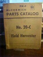 FH-1 McCormick Parts Catalog No.20-C Field Harvester 1952  (1M)