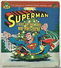 """1978 SUPERMAN """"Light Up the Tree Mr. President 7"""" 33 1/3 LP by Peter Pan  SEALED"""