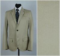 Mens GAP SIZE M Medium UK38 Beige Twill Cotton Unstructured Sports Jacket Blazer