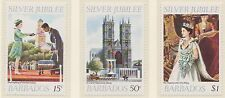 (ZL-123) 1977 Barbados 3set silver jubilee (A) MUH