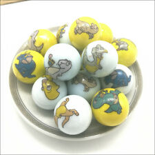 10pcs Cartoon 25mm Dinosaur Marbles Kid Toy Glass Beads Collection Marble Gift