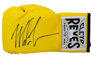 Mike Tyson Signed Left Hand Yellow Cleto Reyes Boxing Glove JSA ITP