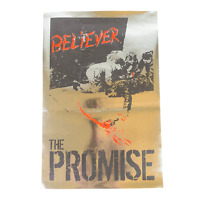 "Vintage The Promise ""Believer"" Silver Foil Poster Hardcore Pop Punk Rock Metal"