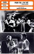 FICHE CINEMA : POUR TOI J'AI TUE - Lancaster,De Carlo,Siodmak 1949 Criss Cross