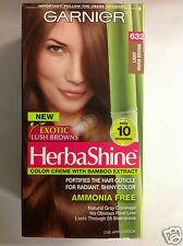 Garnier Herbashine Haircolor Creme ( #632 Light Warm Brown  ) AMMONIA FREE.