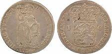 Pays-Bas, gulden (florin), 1764 Overyssel, argent, RARE - 111