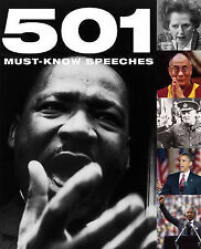 501 Must-Know Speeches (501 Series) Hardback Book The Cheap Fast Free Post