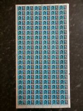 Full Sheet of the 1966 Robert Burns 4d stamps
