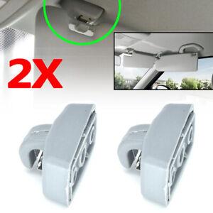 2x Sun Visor Clip For VW T4 T5 T6 Passat B5 Polo Saveiro Sharan Golf Touran EOS