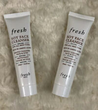 2 X Fresh Soy Face Cleanser 0.6oz / 20ml Each Deluxe Travel Size