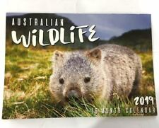 2019 Calendar Rectangle Wall Calendar 16 Months Australian Animal Wildlife