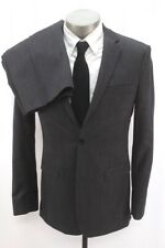 mens charcoal BANANA REPUBLIC 2pc Pant Suit wool modern tailored fit 38 R
