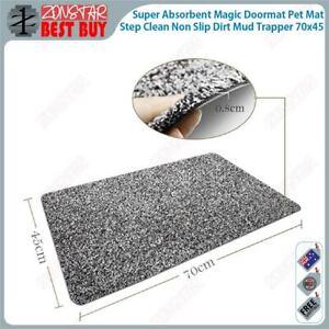 Super Absorbent Magic Doormat Pet Mat Step Clean Non Slip Dirt Mud Trapper 70x45