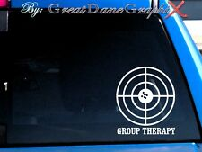 Group Therapy. Range Target. Vinyl Car Decal Sticker / Choose Color-HIGH QUALITY