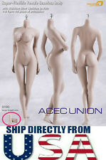 PHICEN 1/6 Super Seamless Female Body L Bust PALE S10D Removable Feet U.S.A.