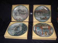 4 Imperial Jingdezhen Porcelain Plates Summer Palace 1, 2, 3 & 4 Coas