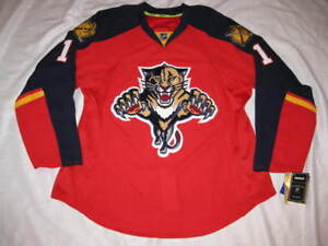 Roberto Luongo Florida Panthers 2015 Red Reebok Authentic Road Jersey Size 52