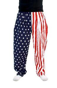 Adult United States Patriot USA American Flag Stars Stripes Lounge Pants Pajamas