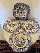 Spode Blue Room Garden Collection Set Of 4 Buffet/Dessert Plates. Discontinued