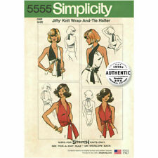 Simplicity Sewing Pattern 5555 Knit Wrap & Tie Halter Top 1970s Vintage Jiffy