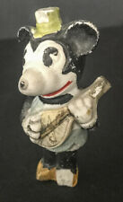"Vintage Mickey Mouse with Mandolin bisque figure 1930s, 3"" tall, rough shape"