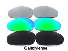 Galaxy Replacement Lenses For Oakley Juliet Black&Green&Titanium Polarized 3Pair