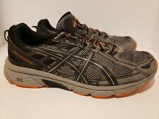ASICS Men's GEL VENTURE 6 Sneakers Trail Running Shoes Size 11 Grey Black Orange