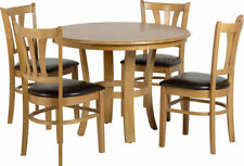 Dining Room Round Table & Chair Sets with 4 Pieces