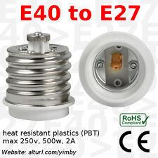 E40 to E27 Socket Base Adapter Converter