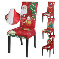 1/2/4PCS Dining Chair Cover Party Slipcovers Covers Seat Xmas Banquet Christmas