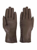 Giromy Samoni Womens Warm Winter Plush Lined Leather Driving Gloves - Taupe