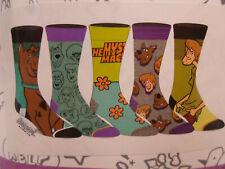 Scooby Doo Shaggy Men's NEW 5 Pair CREW SOCKS SIZE 8-12