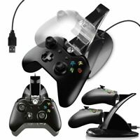 Xbox One Controller Dual Charging Station Dock Stand LED USB cable Charger Base