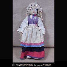 "Antique 1920-40s 14"" Lenci Girl Cloth Doll European Costume"