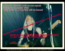 Johnny Winter And Sept-1970 11x14 Mean Town Blues Dlux Hi End Luster Paper Orig.