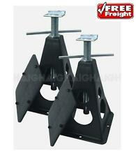 Caravan Levelling Stabiliser Stands with Anti Sink Ground Plates Twin Pack CVS01