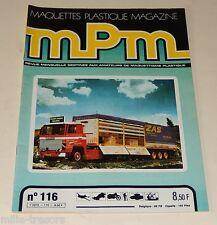 MAQUETTES PLASTIQUE MPM Magazine N°116 1981 SCANIA - ALOUETTE III - F-16 Falcon