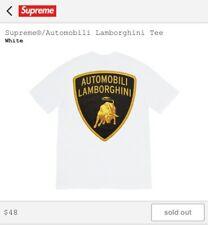SUPREME x LAMBORGHINI SS20 T-Shirt White Medium