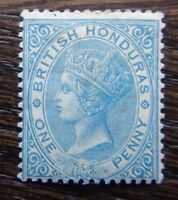 British Honduras 1882 - 1887 1d Blue SG17 MM Cat £75