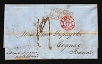 1848 (Sep 13) Private Anti-Retaliatory Rate Cover/RMS Niagara/NY to France L4716
