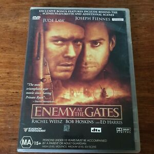 Enemy at the Gates DVD R4 Like New! FREE POST Jude Law