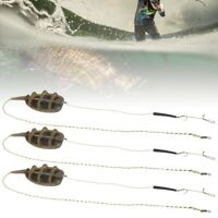 3Pcs Fishing Inline Method Feeder Feeders Fishing Tackle Accs Set European Style