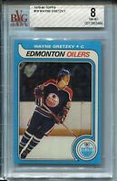 1979 Topps Hockey #18 Wayne Gretzky Rookie Card RC Graded BVG NM MINT 8 Oilers