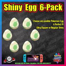 Square Shiny Egg 6-Pack | Choose Yours | Isle of Armor | Pokemon Sword Shield