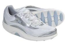 AETREX Womens Bodyworks Sport Walking Shoe White Silver Rocker BW31 SZ 12 M 44.5