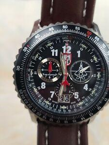 Luminox 9247 Men's Air Force Raptor 9240 dial brown leather Strap dive