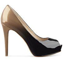 GUESS Women's HONORA 5 Platform peep-toe Pump Nude/black Size 11M