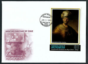 MICRONESIA, SCOTT # 695, FDC COVER OF REMBRANDT HARMENSZ VAN RIJN, ARTIST