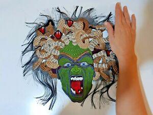 Medusa Gorgon Large Handmade Embroidered Patch For Jacket Back
